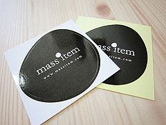 Business Gloss Paper Sticker