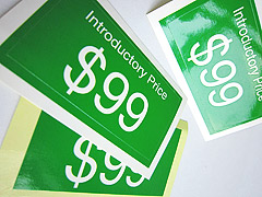 Gloss Paper Sticker $99