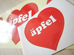 Gloss Paper Sticker apfel